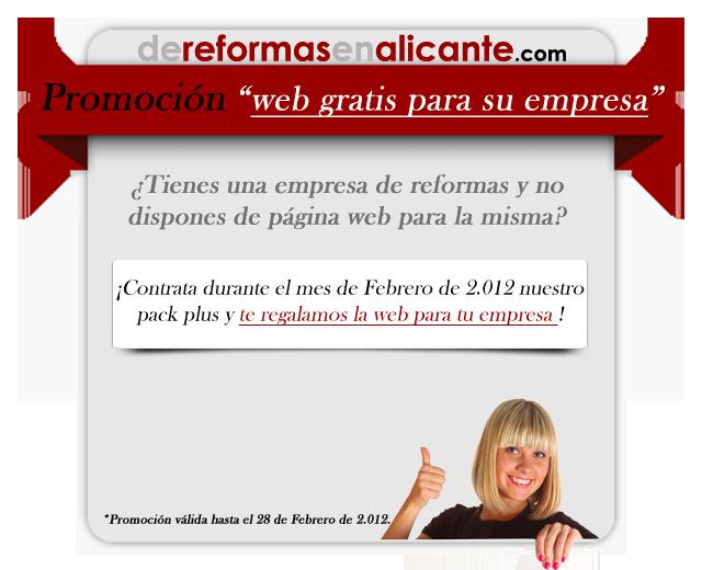 promoción de página web gratis para empresas