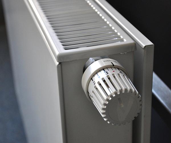 Vista de un radiador de calefacción central